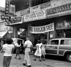 Shops along Quezon Boulevard, Quiapo, Manila, Philippines, Oct. Philippines Culture, Manila Philippines, Philippine Art, Colorized Photos, City Aesthetic, Filipino, Historical Photos, Vintage Ads, Southeast Asia
