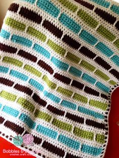 Ravelry: Crochet Stripes Baby Blanket pattern by Bernat Design Studio