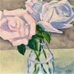 """Daily Painting """"More Roses (again)"""" So, I am painting those three white roses again. Daily Painters, White Roses, Flower Paintings, Gallery, Flowers, Artist, Artwork, Paintings Of Flowers, Work Of Art"""