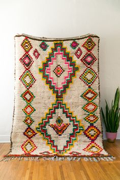 GORGEOUS vintage berber boucherite rug from the azilal region. #cococarpets