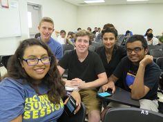 Summer Scholars with mentor Noemi during seminar