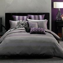 Showcasing beautiful, jewel-like colours of amethyst and pewter, Kyoko will endow a bedroom with the look and feel of timeless elegance and sophistication. The rich jacquard fabric gleams with bands of subtle prints and tonal changes which blend seamlessly together to create a bedroom design that is both classic and stylish.