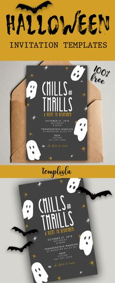 Free Printable Halloween Invitation Templates In Word  Halloween