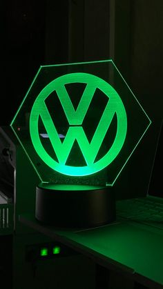 Engraved LED light on 4mm Acrylic. | Etsy Vw Conversions, Name Design, Slide Design, Volkswagen Logo, Light Up, Colours, Led, Unique Jewelry, Handmade Gifts