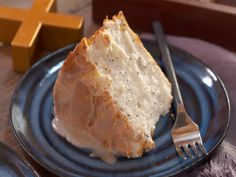 Poppy Seed and Lemon Angel Food Cake recipe from Nancy Fuller via Food Network