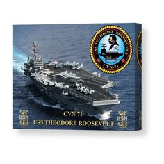 USS Theodore Roosevelt Canvas Print / Canvas Art by Mil Merchant Uss Theodore Roosevelt, Create Photo, Military Art, Stretched Canvas Prints, Tag Art, Canvas Material, Fine Art America, Canvas Art, Poster Prints