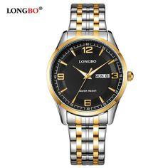 2017 Brand LONGBO Luxury Lovers' Couple Watches Men Waterproof Business Watch Women Casual Full Steel Quartz Wristwatch Clock