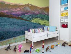 Wall Mural Adventure image 1 by Rebel Walls Kids Wall Murals, Murals For Kids, Designers Guild, Photo Mural, Romantic Scenes, Rainbow Wallpaper, Pip Studio, Mystical Forest, Wallpaper Online