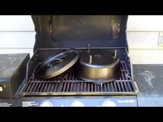 HOW TO: Season cast iron on a Barbecue Grill