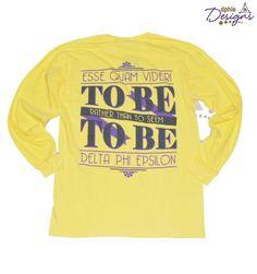 DPhiE Designs Apparel  Yellow Esse Quam Videri Long Sleeve T-Shirt