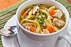 Chicken Soup Is a Favorite Chicken Noodle Soup Recipe from Real Restaurant Recipes Gourmet Recipes, Soup Recipes, Healthy Recipes, Yummy Recipes, Recipies, Chicken Noodle Soup, Restaurant Recipes, Healthy Chicken, Just In Case