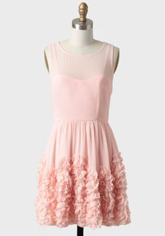 dunno if you're a fan of pink but this is cute and feminine. you could always do two different color dresses, like pale pink and pale blue...just an idea. Le Sucre Ruffle Detail Dress at #Ruche @Ruche