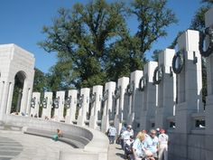 WWII monument is my favorite. It is so serene to sit inside and watch the water.