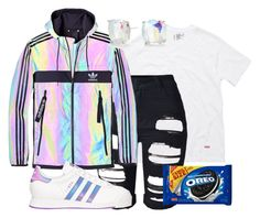 """""""im so bored rn"""" by bxbysnoop ❤ liked on Polyvore featuring Hanes, adidas and Kate Spade"""