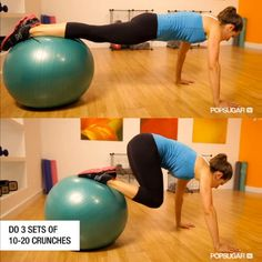 Go Full Body: do dynamic moves that target your whole body. Plank Crunch, Atlas Body Chop, Side Bend Squats, Plie with Calf Raise, Easy Knee-tuck Crunches