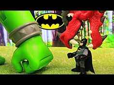 Batman Attacked by Medieval Ogre and Dragon Saved by Superman Catapult and The Flash Battering Ram - YouTube