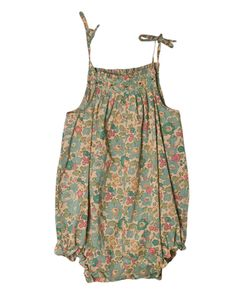 Sweetest little baby girl romper from Bonpoint. #libertyprint #babygirl #vintagebaby