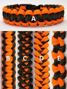 Hunting Orange Camo Seesaw Pinwheel Shark Jaw Bone Paracord Bracelet Made in usa