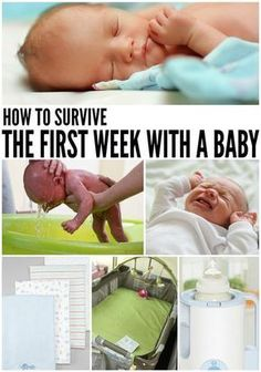 how to survive the first week with a baby - actually a really good read!!