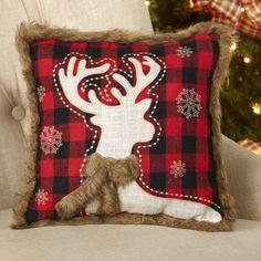 Cabin Christmas, Black Christmas, Christmas Pillow, Christmas Stockings, Christmas Time, Christmas Ideas, Plaid Stockings, Christmas Cushions, Xmas