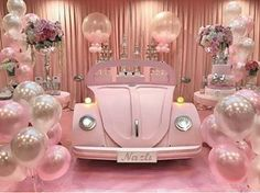 I love this set up for a girl's birthday party ? Balloon Decorations, Birthday Party Decorations, Party Themes, Wedding Decorations, Party Ideas, Theme Ideas, 16th Birthday, Baby Birthday, Birthday Parties