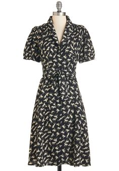 Yea or Neigh Dress. Youre always in favor of adding a dash of festive charm to your look - as you gracefully demonstrate by donning this printed frock! #black #modcloth