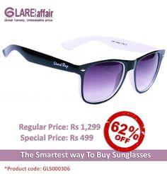 EDWARD BLAZE EB-D801 BLACK WHITE WAYFARER SUNGLASSES http://www.glareaffair.com/sunglasses/edward-blaze-eb-d801-black-white-wayfarer-sunglasses.html  Brand : Edward Blaze  Regular Price: Rs1,299 Special Price: Rs499  Discount : Rs800 (62%)