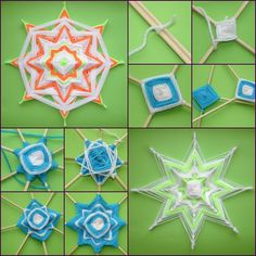 How to Make Beautiful Mandala Flower with Skewers tutorial and instruction. Follow us: www.facebook.com/fabartdiy