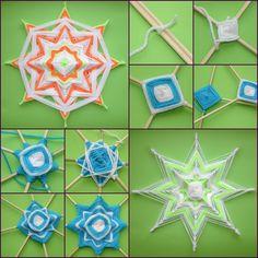 How to Make Beautiful Mandala Flower with Skewers