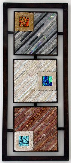 Triptich3 by 2ora Natural stone, ceramic, dichroic glass