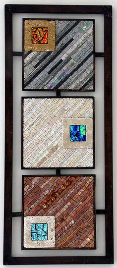 Triptich3 by 2ora Natural stone, ceramic, dichroic glass