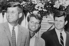 Brothers Robert, Ted, and John: In 1960, he defeated Richard Nixon in the Presidential Elections. Kennedy was the youngest president elected. He was the first Catholic too. (Photo Credit: Bettmann/CORBIS)