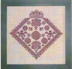 Floral Diamond - Cross Stitch Pattern