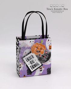 Blog Hop inspireINK – Halloween Täschchen – mit Produkten von Stampin' Up! Halloween Taschen, Tricks, Box, Stampin Up, Community, Tote Bag, Projects, Packaging, Creative