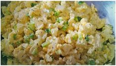 I love potato salad…but I hate all those carbs…so I made a low carb potato salad / with cauliflower instead …. It was SOOOO good Ingredients: 1 head of cauliflower steamed or boiled until tender in bite size pieces 6 boiled eggs (when done peel How To Cook Cauliflower, Cauliflower Potatoes, Cauliflower Recipes, Fun Easy Recipes, Easy Meals, Healthy Recipes, Salad Recipes, Keto Recipes