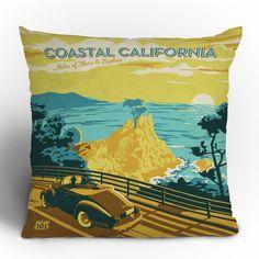 Anderson Design Group 'Coastal California' Throw Pillow