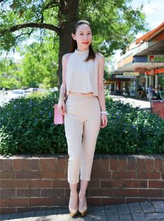 Street Stylin' Kingston Foreshore: Cloudy with a stylish mix of 86 Daigou, House of Harlow and Chanel