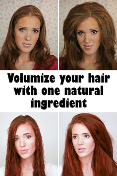 Volumize your hair with one natural ingredient