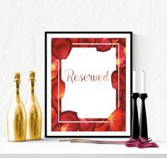Reserved Wedding Sign Rose Petals | https://www.vivabop.co.uk/products/reserved-wedding-sign-printable-rose-petals