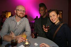 From the left: Simon Staffans (Media City, Finland), Richard Baffoe-Djan and Sonia Fizek