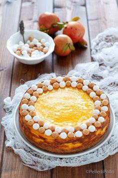 Golosissima #cheesecake cotta al forno con #zucca e #spezie #ricette #pumpkinpie #pumpkinspice #dolcigolosi