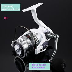 1pcs Fishing wheel HC1000-7000 series 5.2:1 13+1BB white super plastic fishing vessel spinning reels pesca tackle 1606358