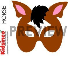 Horse Mask Template, Horse Pattern