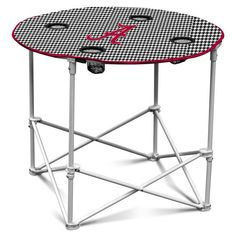 Alabama Crimson Tide Houndstooth Round Tailgate Table Z157-629300601