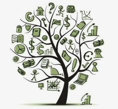 Art tree concept with business icons for your design - Stock Vector , Business Icon, Financial Literacy, Financial Tips, Money Matters, Money Management, Personal Finance, Vector Art, Illustration Art, Clip Art
