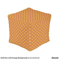 Gold Star with Orange Background Cube Pouf Available on many products! Hit the 'available on' tab near the product description to see them all! Thanks for looking!   @zazzle #art #star #pattern #shop #chic #modern #style #circle #round #square #home #decor #pillow #fun #neat #cool #buy #sale #shopping #men #women #decorate #apartment #sweet #awesome #look #couch #accent #color #black #gold #navy #purple #orange #grey #yellow #gray #classic