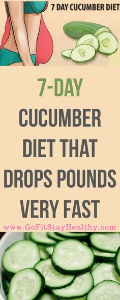 7 DAYS - 7 KILOS LESS. CUCUMBER DIET