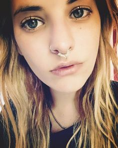 I think it's time to tweeze and brush my hair Sometimes I dude it up for far too long. #vidakush #septum