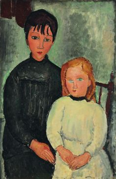 Amedeo Modigliani -Les deux filles ,1918