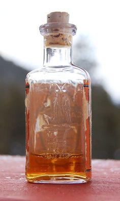 Early Old OWL DRUG Co antique bottle w/ Spirits of Camphor